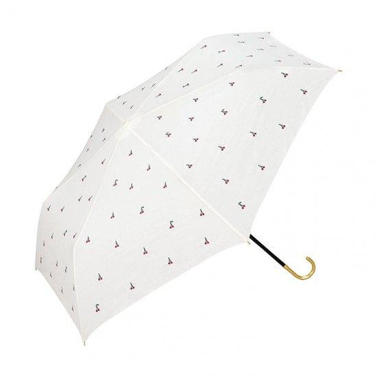 Wpc 日傘 折りたたみ傘 晴雨兼用傘 プチチェリー刺繍  mini w.p.c ワールドパーティー