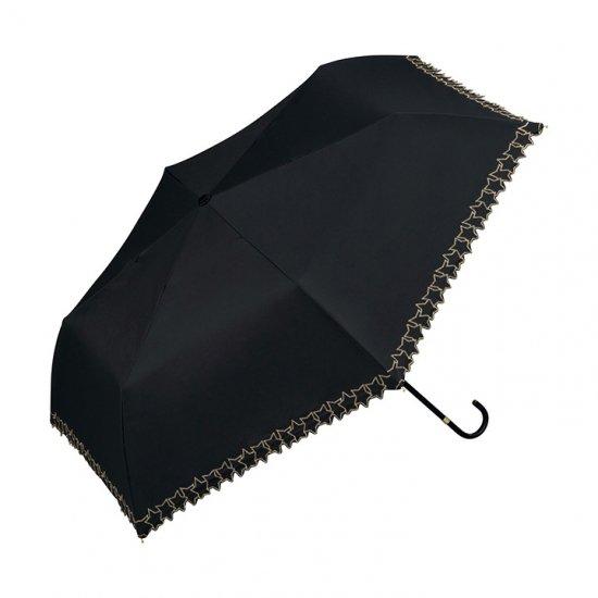 Wpc 日傘 遮光遮熱傘 折りたたみ傘 晴雨兼用傘 遮光フレームスタースカラップ刺繍  mini w.p.c ワールドパーティー