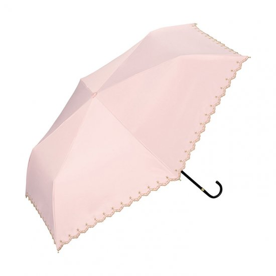 Wpc 日傘 遮光遮熱傘 折りたたみ傘 晴雨兼用傘 遮光星柄スカラップ  mini w.p.c ワールドパーティー