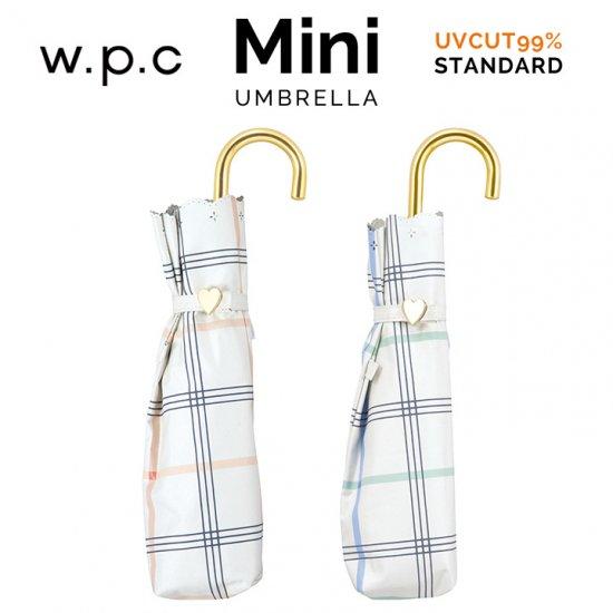 Wpc 日傘 遮光遮熱傘 折りたたみ傘 晴雨兼用傘 遮光ガーリーチェック  mini w.p.c ワールドパーティー