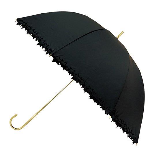 日傘 完全遮光100%傘 レディース傘 ブラックコーティング スターライン 遮光遮熱傘