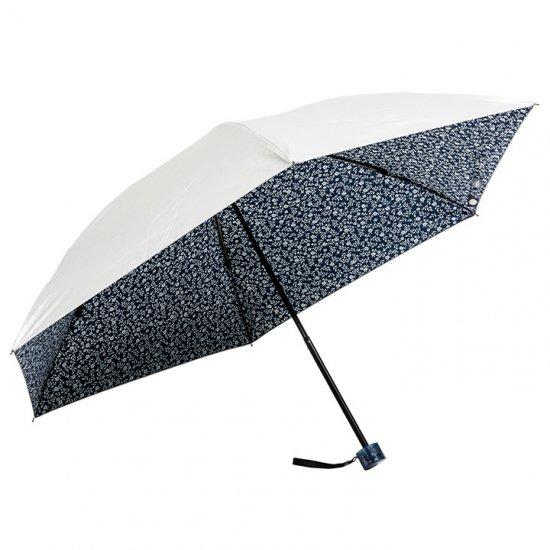 ウォーターフロント Waterfront 折りたたみ傘 軽量 レディース クールテック フラワー三折 日傘 遮光遮熱傘 晴雨兼用傘