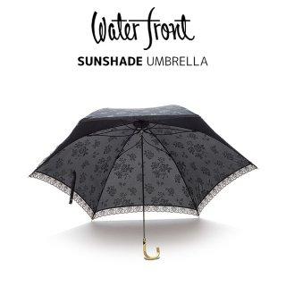 ウォーターフロント Waterfront レディース傘 超軽量 100g スーパーフライ エンボス柄 ショート丈 晴雨兼用UVカット90%傘 ウォーターフロント