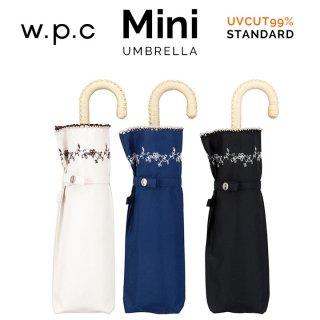 Wpc 日傘 遮光遮熱傘 折りたたみ傘 晴雨兼用傘 プチフラワー刺繍 w.p.c ワールドパーティー