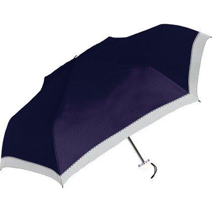 日傘 レディース折りたたみ傘 晴雨兼用 遮光遮熱 UVカット99% 軽量 無地ボーダー
