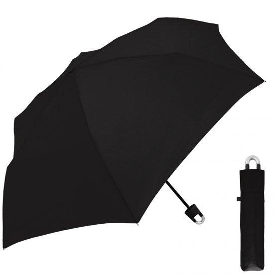 折りたたみ傘 男女兼用 カラビナ付き手元折傘
