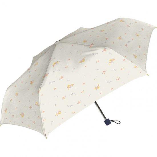 レディース折りたたみ傘 ブーケットスリム UV加工 耐風仕様