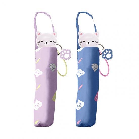 折りたたみ傘 子供用記念品 女の子 軽量 かわいい子供用 レイニーキャット ェイルシェイル