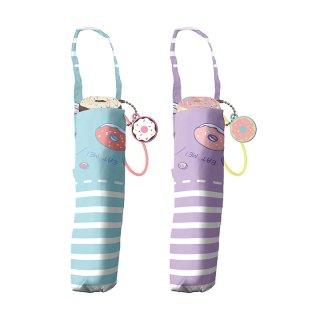 折りたたみ傘 子供用記念品 女の子 軽量 かわいい子供用 カフェドーナツ ェイルシェイル