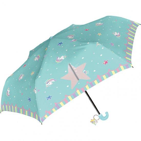 折りたたみ傘 子供用記念品 女の子 軽量 かわいい子供用 ゆめかわユニコーン 50cm シェイルシェイル
