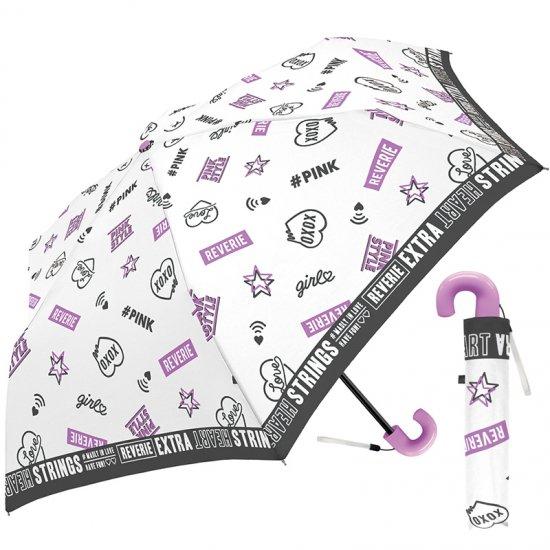 折りたたみ傘 かわいい子供用 女の子 軽量 ラブガールズスタイル 子供用記念品 クラックス
