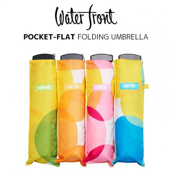 ウォーターフロント Waterfront 軽量 折りたたみ傘 レディース ポケフラットPOPドット 薄型 日傘 晴雨兼用傘