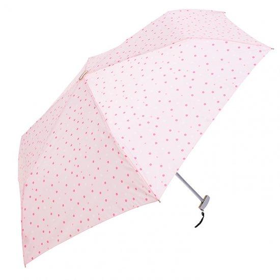 ウォーターフロント Waterfront 軽量 折りたたみ傘 レディース ポケフラットドット&スター 薄型 日傘 晴雨兼用傘