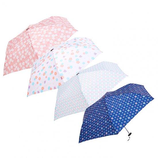 ウォーターフロント Waterfront 軽量 折りたたみ傘 レディース ポケフラット和柄 キュート 薄型 日傘 晴雨兼用傘