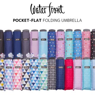 ウォーターフロント Waterfront 軽量 折りたたみ傘 レディース ポケフラット和柄 シンプル 薄型 日傘 晴雨兼用傘