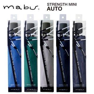 【mabu】丈夫な折りたたみ傘 自動開閉傘 強風でも壊れにくい ストレングスミニ AUTO 白骨 マブ