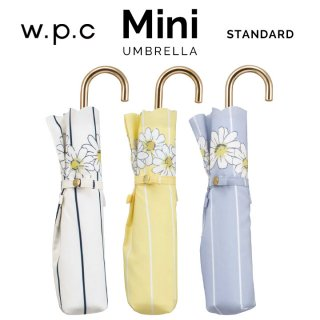 Wpc 折りたたみ傘 軽量傘 ストライプマーガレット mini w.p.c ワールドパーティー