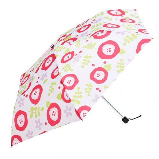 ウォーターフロント Waterfront 折りたたみ傘 軽量 レディース ペン細 アートフラワーUV 日傘 晴雨兼用傘