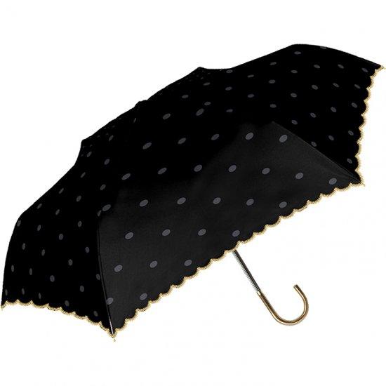 日傘 折りたたみ傘 裏ブラックコーティング ブラックベーシック 遮光遮熱傘 晴雨兼用傘