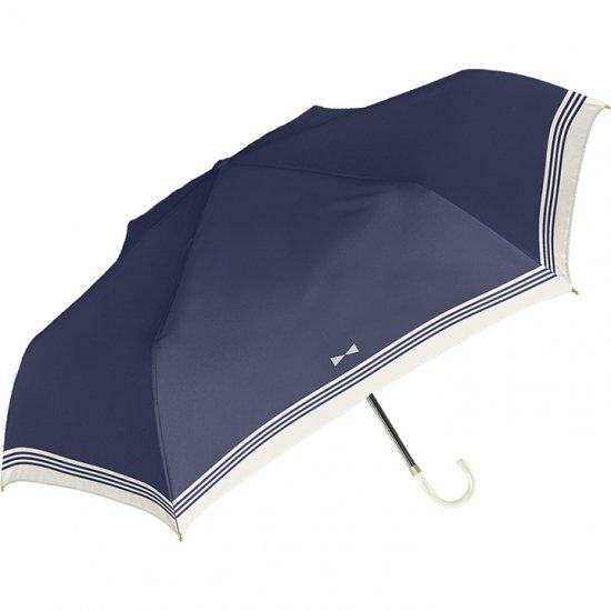 日傘 折りたたみ傘 裏ブラックコーティング リボンセーラー 遮光遮熱傘 晴雨兼用傘