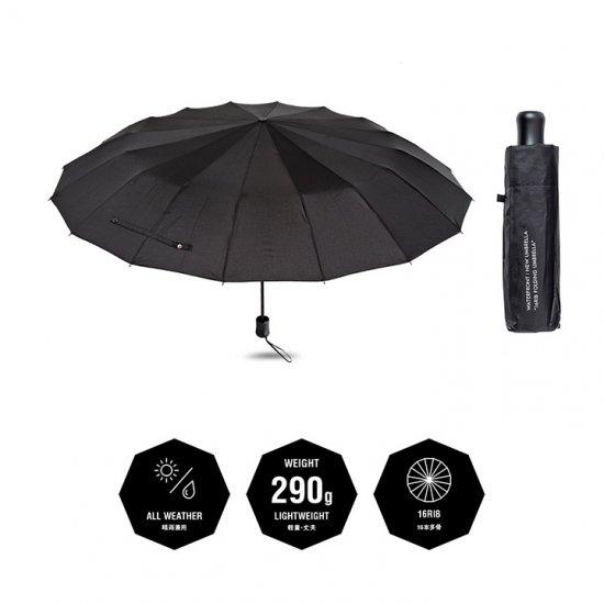 ウォーターフロント Waterfront 折りたたみ傘 軽量 16本骨折り畳み傘 晴雨兼用傘