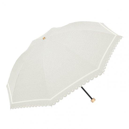 ウォーターフロント Waterfront 折りたたみ傘 軽量 デニムボーダーパラソル 遮光遮熱 晴雨兼用傘