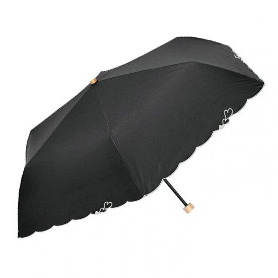 ウォーターフロント Waterfront 折りたたみ傘 軽量 刺繍ハートパラソル 遮光遮熱 晴雨兼用傘