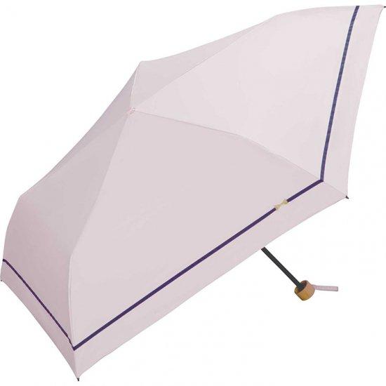 Wpc 日傘 遮光遮熱傘 折りたたみ傘 晴雨兼用傘 遮光軽量 ラインリボン刺繍 mini w.p.c ワールドパーティー