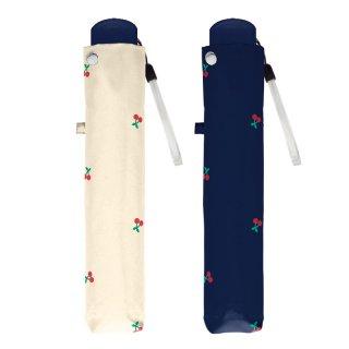 折りたたみ傘 かわいい子供用 女の子 軽量 タイニーチェリー 子供用記念品 クラックス
