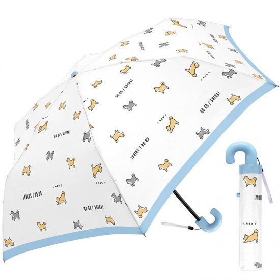 折りたたみ傘 かわいい子供用 女の子 軽量 ゴーゴーシバ 子供用記念品 クラックス