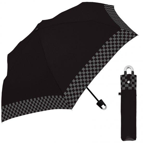 折りたたみ傘 かわいい子供用 軽量 キッズカラナビ付き手元 ブロックチェック 子供用記念品 クラックス