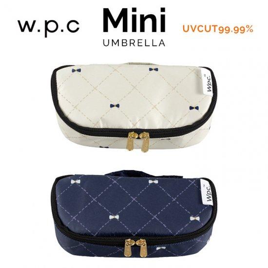 Wpc 日傘 遮光遮熱傘 折りたたみ傘 晴雨兼用傘 遮光クロスステッチリボンmini w.p.c ワールドパーティー