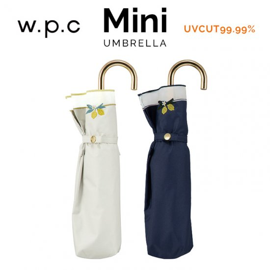 Wpc 日傘 遮光遮熱傘 折りたたみ傘 晴雨兼用傘 遮光レモン刺繍mini w.p.c ワールドパーティー