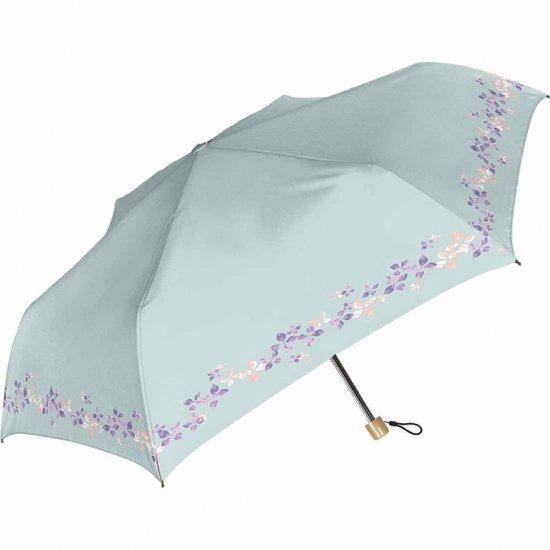 日傘 折りたたみ傘 裏ブラックコーティング 遮光率100% フェアリーフラワー 遮光遮熱傘 晴雨兼用傘