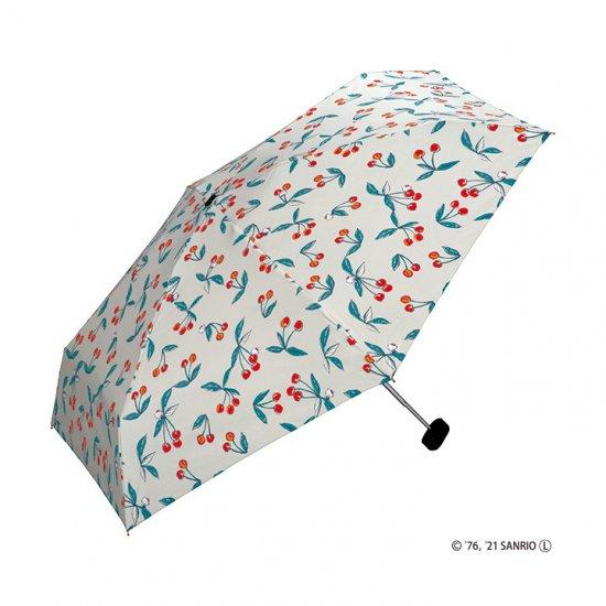Wpc 日傘 遮光遮熱傘 折りたたみ傘 晴雨兼用傘 遮光ハローキティ チェリーmini w.p.c ワールドパーティー