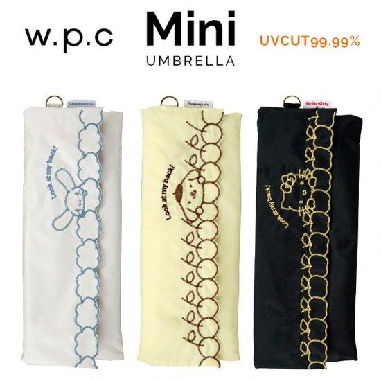 Wpc 日傘 遮光遮熱傘 折りたたみ傘 晴雨兼用傘 遮光サンリオフロントアンドバックmini w.p.c ワールドパーティー