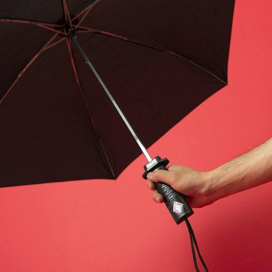 ウォーターフロント Waterfront 折りたたみ傘 刀クレスト 55cm ブラック