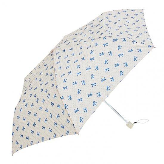ウォーターフロント Waterfront 折りたたみ傘 軽量 レディース ペン細 リボンUV 日傘 晴雨兼用傘