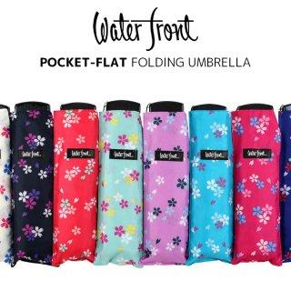 ウォーターフロント Waterfront 軽量 折りたたみ傘 レディース ポケフラット和柄UV サクラ 薄型 日傘 晴雨兼用傘