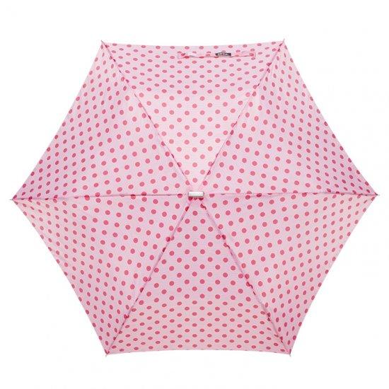 【waterfront】折りたたみ傘 軽量165g傘 薄型50cm ポケフラット ドット柄 ウォーターフロント シューズセレクション