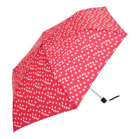 【waterfront】折りたたみ傘 晴雨兼用傘 軽量140g レディース傘 花小紋三つ折UV ウォーターフロント シューズセレクション