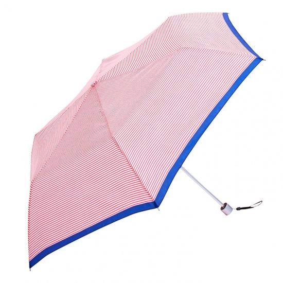 【waterfront】折りたたみ傘 軽量140g傘 ペン細ボーダー柄 ウォーターフロント シューズセレクション