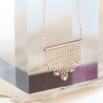 Fringe Chain Necklace | K10YG