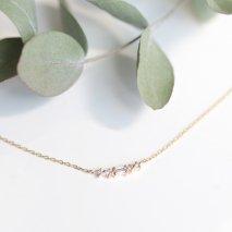 Diamond Tiara Necklace | K10YG