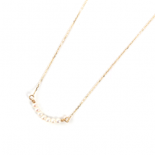 Pearl Line Necklace | K10YG
