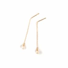 Pearl & Gold Mirror Ball Threader | K18