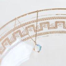 Round Opal Necklace | K10YG