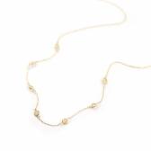 Opal Station Necklace | K10YG