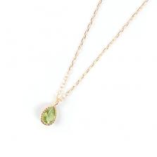 Peridot Necklace | K10YG