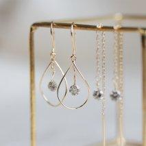 Nudy Diamond & Gold Hoop Pierce 0.2ct | K18